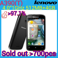 Original lenovo A390T  phone SC8825 daul core 1024Mhz   Ram 512MB Rom 4G  5.0MP camera