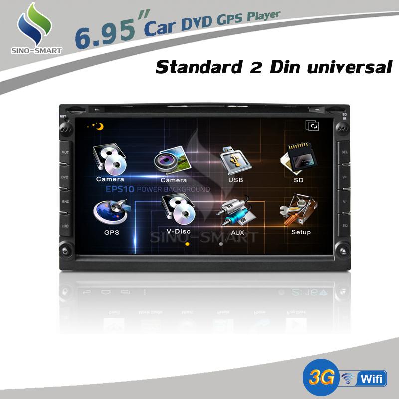 Envío gratis de interfaz de usuario 3d 2 din dvd para el coche con ...