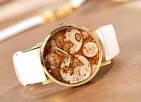 Word Map Women Wholesale fashion Hours leather strap quartz watch, wrist watches women men FS130