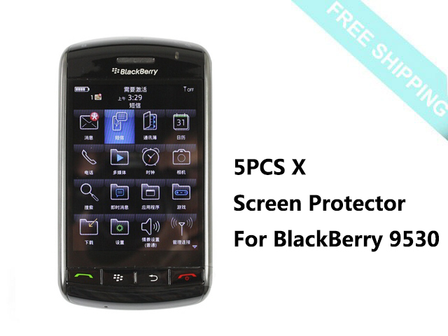 """5pcs x 3.25"""" Clear LCD Screen Protector Guard Cover Film for BlackBerry Storm 2 9500 9530(China (Mainland))"""