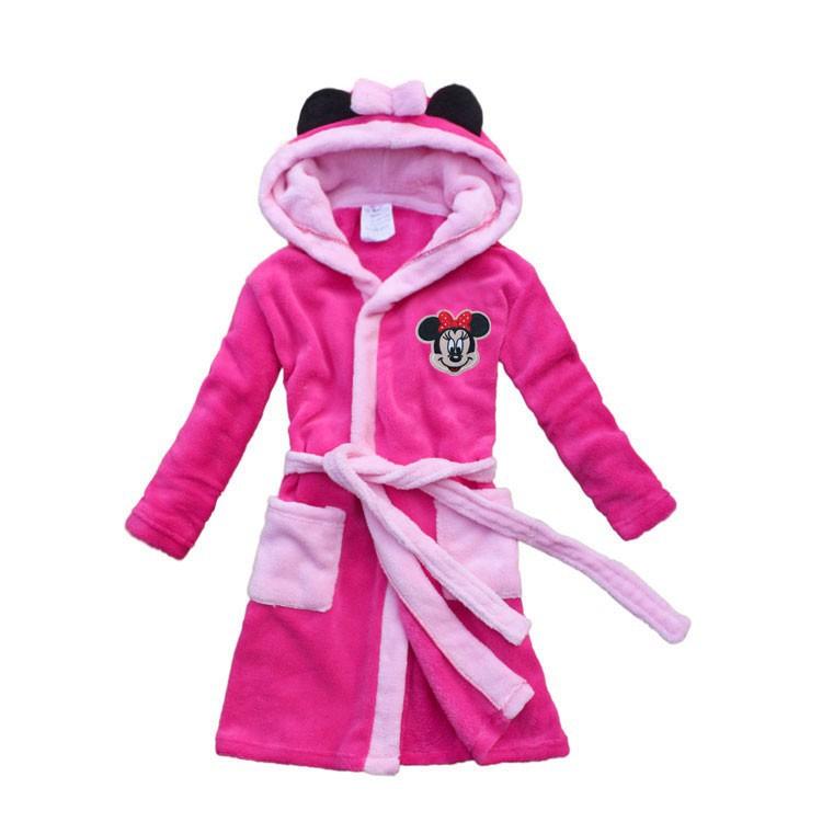 new 2015 female child robe cartoon child bathrobe winter thickening coral fleece bathrobe(China (Mainland))