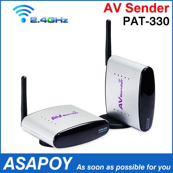 Free Shipping 2.4GHz Wireless AV Sender TV Audio Video Transmitter Receiver PAT-330 New(China (Mainland))