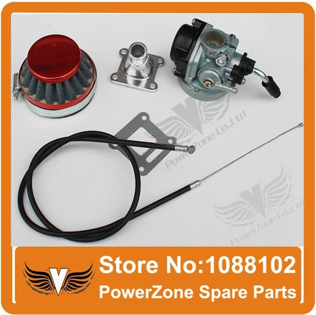47cc 49cc 33cc Two Stroke Mini Moto Pocket Dirt Bike ATV Quad Carburetor Kits With Air Filter Throttle Cable Intake Pipe(China (Mainland))
