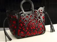 2015 Casual -selling new  fashion women PU leather handbags Classic Elegance hollow out handbag one shoulder bag messenger bag