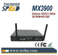 Supper Industrial Mini PC MX3900 Windows 7 OS Intel Celeron 1037u Dual Core 1.8Ghz 2GB RAM 8GB SSD RS232 COM Port