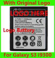 Wholesale Original Logo EB-L1G6LLU Replacement Battery for Samsung Galaxy S3 i9300 Free Shipping 200pcs/lot