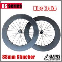 3k matte Disc brake 88mm clincher carbon road wheels/ carbon Cyclocross wheelset