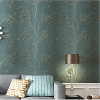Tree Pattern Wallpaper 3D Luxury Non-Woven Geometry Wall Papers Living Room Home Decor Blue Vintage Papel de parede 3D