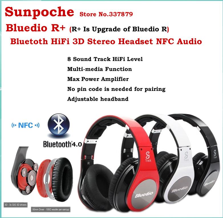 I migliori auricolari e cuffie r+ auricolare bluetooth studio audio hi-fi 8 canali NFC auricolare cuffie stereo con lettore sd card