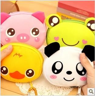Free Shipping Eco-friendly Frog Portable Folding Tote Bag Panda Cartoon Animal Shopping Bags Bear Simple Travel Storage Bag(China (Mainland))