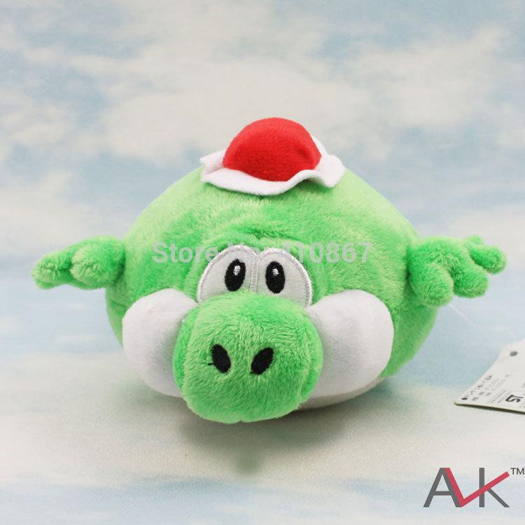 "Free Shipping 1pcs /Lot Cute Super Mario Bros.MARIO yoshi Plush Doll Toy 7"" 10"" Wholesale(China (Mainland))"