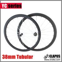 Ceramic Bearings 700c 38mm tubular full carbon wheel/carbon road racing cycling wheelset