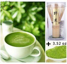3.52oz 0.22lb 100g Pure Organic Natural Healthy Matcha Green Tea Powder+1*Bamboo Chasen Whisk 78 Set Pack(China (Mainland))