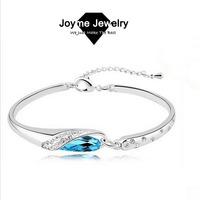 2014 Joyme Brand Austrian Crystal Silver Plated Bracelet Female Jewelry Bracelet & Bangles