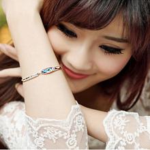 2014 Joyme Brand Austrian Crystal Silver Plated Bracelet Female Jewelry Bracelet Bangles