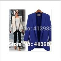 2014 New Europe Style Classic Women Blaser Feminino  Women Formal Blazer Ladies  Medium-long Coat High Quality
