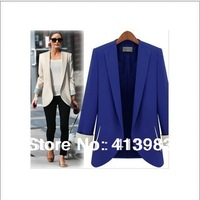 New  Spring 2014 Classic Women Blazers  Women Slim Coat  Medium-long Jacket  High Quality  S/M/L/XL/2XL Plus size