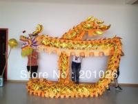 10m Length Size 3 Gold-plated on body  yellow  Chinese DRAGON DANCE ORIGINAL Dragon Chinese Folk Festival Celebration Costume
