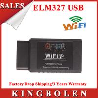 2014 Hot Selling ELM 327 Wifi USB Scanner Wi-Fi ELM327 OBD 2 II Car Diagnostic Interface Scanner Works With All OBD-II Protocol