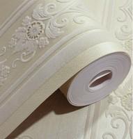 Cream Velvet Fashion Damask Vertical Stripes Flocked Wallpaper Sofa Background Velvet Flock Wallcovering