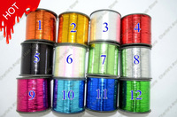 Hot! -12 colors, 12000 meters(39370 feet)/roll, Glitz Dazzle colorful Tinsel Hair Extensions free shipping