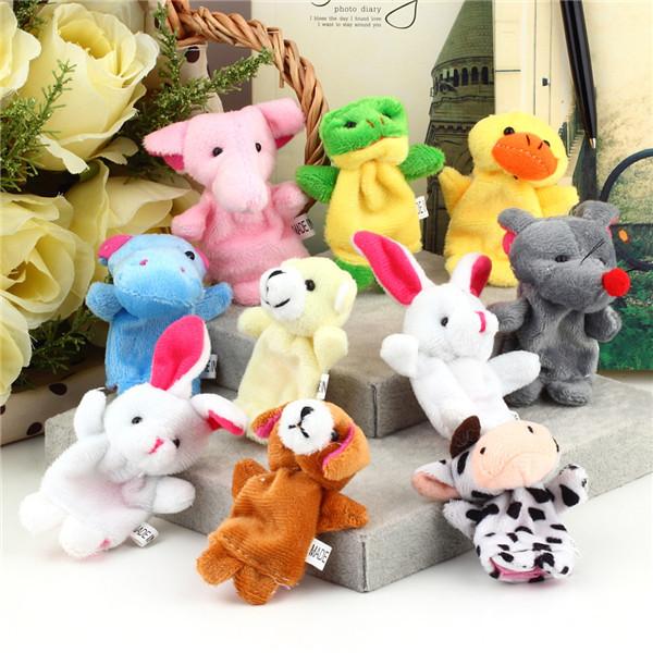 10Pcs/lot Cartoon Animal Finger Puppet,Finger Toy,Finger Doll,Baby Dolls,Baby Toys,Animal Doll Free Shipping Wholesale(China (Mainland))