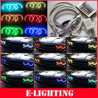 4X131MM 5050SMD Multi-Color RGB LED Angel Eyes for BMW E46 E39 E38 E36 3 5 7 series headlights