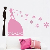 Wall Sticker Romantic Wedding tv background  furnishings spring scenery Fridge sticker  wall stickers For marriage Get married