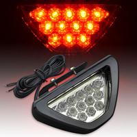 UNIVERSAL FIT 12V RED BRAKE LIGHT TAIL REAR FOG LAMP EMERGENCY WARNING STOP DECORATION LIGHT BACKUP REVERSING FLASHING LIGHT