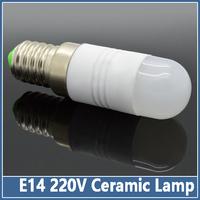 10pcs Mini Ceramic E14 LED Bulbs 220V 3W 5W SMD 5730 Crystal Lamps Corn Chandelier Droplight  Spot Light  refrigerator light
