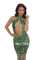 Free Shipping Hot Sale Young Woman's Sexy Cut Out Bandage Dress LB5595 Size S M L