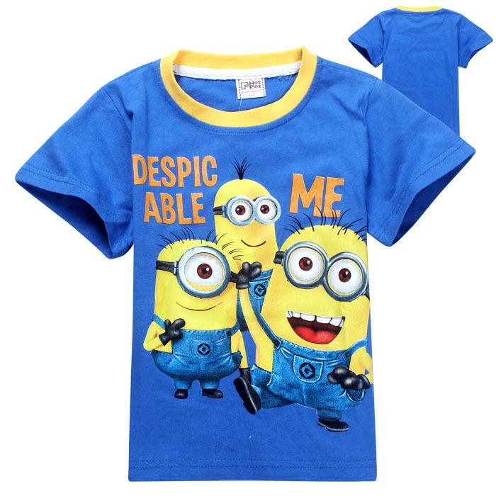 1pcs/lot 2014 despicable me minion boys t shirt girls nova t-shirts kids children t shirts Apparel & Accessories Tops & Tees(China (Mainland))
