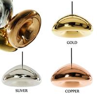 Factory wholesale Modern brief brass bowl glass pendant light bowl  light bedroom Tom Dixon void light
