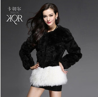 Card twitchell 2014 fur rabbit fur wool fur coat berber fleece sweep female medium-long Y8P0