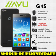 Jiayu G4 mtk6589t Quad core 1.5Ghz 2GB Ram 32GB Rom Gorilla Glass 2 13MP Camera russian JY-G4 Global Free Shipping
