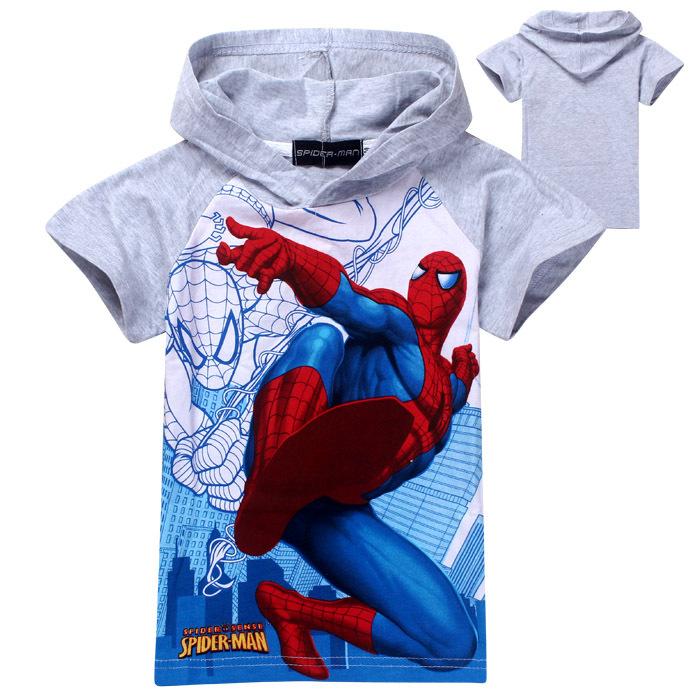 1 pcs New 2015 boys t shirt girls nova top t-shirts for kids baby children's spiderman summer cartoon children t shirts clothing(China (Mainland))