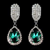 European and American popular teardrop-shaped glass earrings R4137