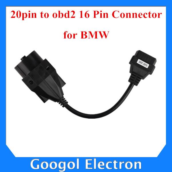 For BMW 20pin to obd2 16 Pin Connector Free Shipping(Hong Kong)