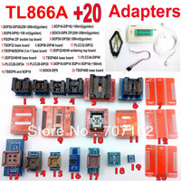 TL866A programmer + 20 adapters USB Universal TL866 AVR PIC Bios 51 MCU Flash EPROM Programmer  Russian English manual