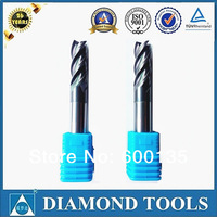 4 flutes 45 degree TiAlN coating carbide end mill tungsten carbide end mills