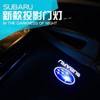 SUBARU forester 2013 / 2014 / 2015 car door welcome light refires laser light punch 4 logo as gift