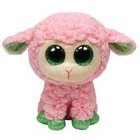 TY Beanie Boos Pink Lamb Sheep Plush Toys 15cm TY Big Eyes Plush Animals Brinquedos Kids Toys for Children Free shipping