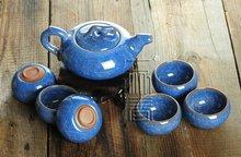 7pcs Exquisite Ice-Carck Tea Set, Porrtery Teaset,A3TB04, Free Shipping