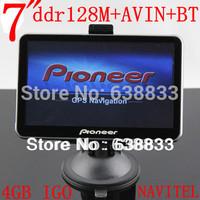 "FREE drop SHIPPING 7"" GPS NavigatIon MTK CE6.0 800M 128M Internal 4GB+AVIN+bluetooth+ FM 480*800 +mp3/4/5+map GO9 PRIMO/NAVITEL"