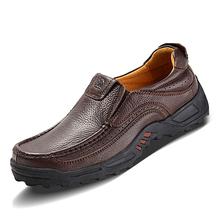 2014 Pisos Nueva Arival Auténtico Camello Brand de los hombres ocasionales de los holgazanes de cuero genuino tamaño 38-47 mocasines hechos a mano zapatos Zapatos Plus(China (Mainland))