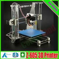 Original Newest Aurora Impressora 3D printer DIY kit Z605 Self-assembly 3D Reprap 2 Roll ABS Filaments FREE Given With CE FCC