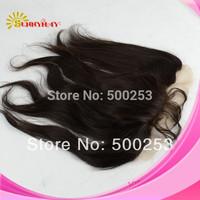 "Stock 100% Brazilian Virgin Straight  Human Hair  4""*13""  Lace Frontal"