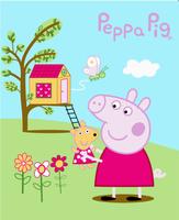 2014 New arrival peppa pig cartoon baby warm pattern blankets pink pig double faced fleece kids girls boys blanket 125cm * 160cm