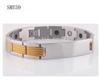Free shipping 316l Stainless steel Magnetic charm bracelets bangles italian titanium Steel man bracelet for men jewelry