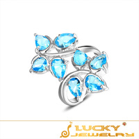 Classic Design!  Sky Blue Topaz Silver Ring Fashion Crystal Jewelry Ring Best Gift US Size 7 8 9  Free Shipping